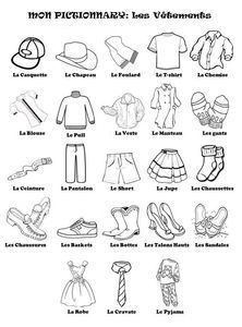 les vetements also link to good game f2 french worksheets french language learning. Black Bedroom Furniture Sets. Home Design Ideas