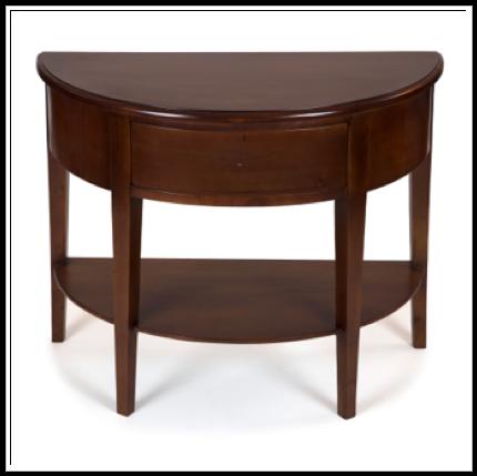 Mesa recibidor media luna 100 madera de cedro 074 x