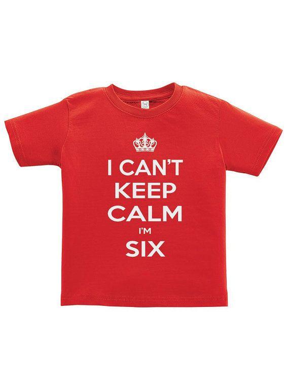 I Cant Keep Calm Im Six Youth Tee