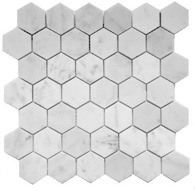 11 75sf Carrara Venato 2 Hexagon Honed Mosaic Tile Pretty Bathrooms Amazing Bathrooms Honeycomb Tile