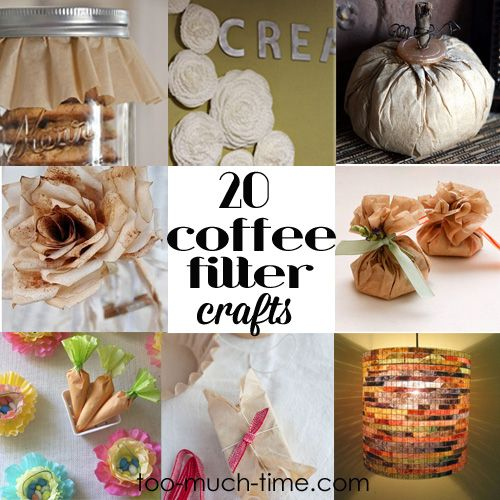 20 coffee filter crafts and projects crafts pinterest for Coffee crafts