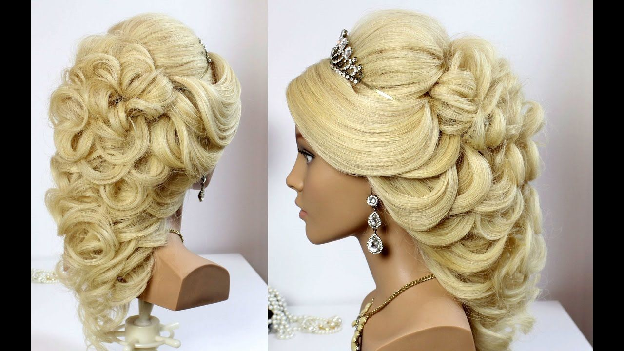 wedding prom hairstyle for long hair. tutorial | haare