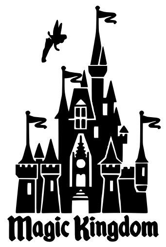 Magic Kingdom Cinderella S Castle With Tinkerbell By Budafuldesign 6 00 Disney Silhouettes Disney Scrapbook Magic Kingdom