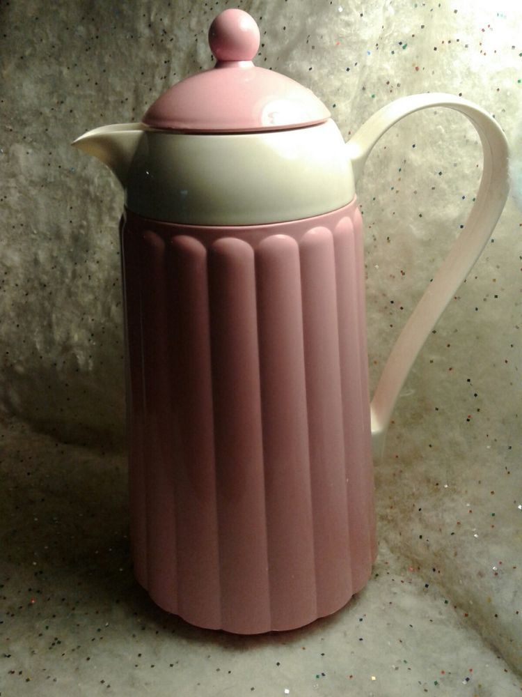 Crown Corning Cotton Candy Thermique Coffee Carafe/Thermos 1 Quart Hot/Cold & Crown Corning Cotton Candy Thermique Coffee Carafe/Thermos 1 Quart ...