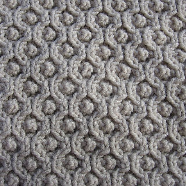 Knitting Stitches Honeycomb : Beautiful texture in this pattern. Assemblage by Norah Gaughan, (Ravelry) car...