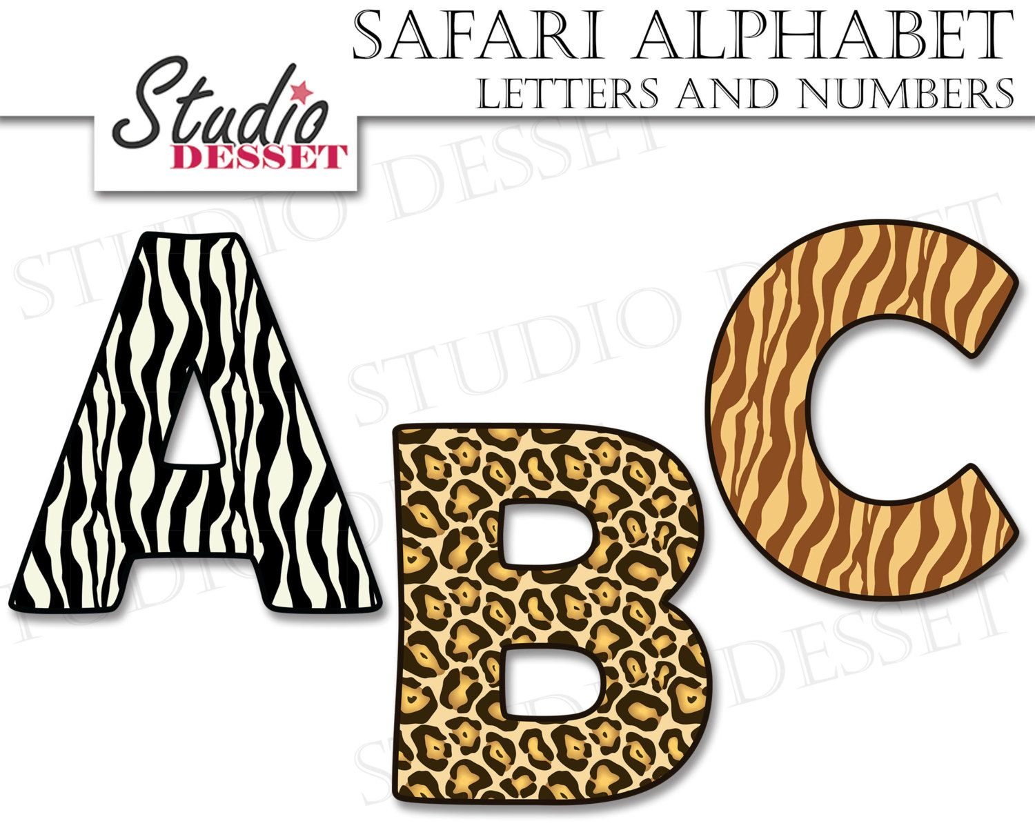 Image Result For Animal Print Letters Printable