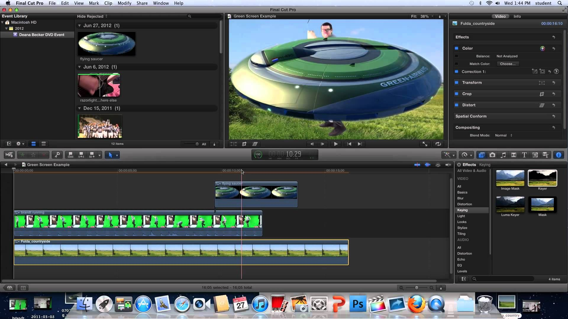 Final Cut Pro X Green Screen Tutorial | Instructional Videos how to