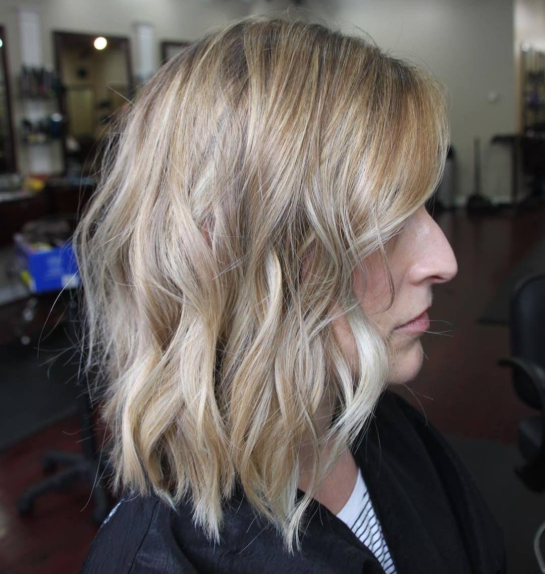 Devastatingly Cool Haircuts for Thin Hair Long wavy bobs Wavy