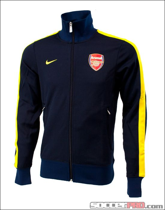 471f315a8d Nike Arsenal N98 Track Jacket - Dark Obsidian and Tour Yellow... 80.99