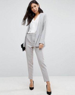 Asos Premium Clean Tailored Suit In Light Gray Womens Tailored