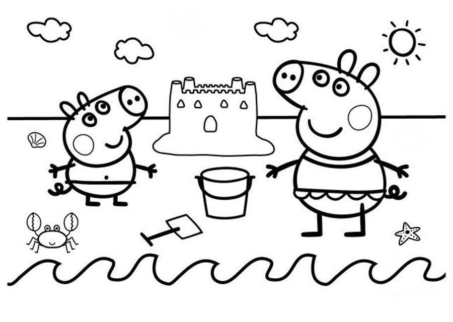 Dibujos De Peppa Pig Para Colorear Con Imagenes Peppa Pig Para