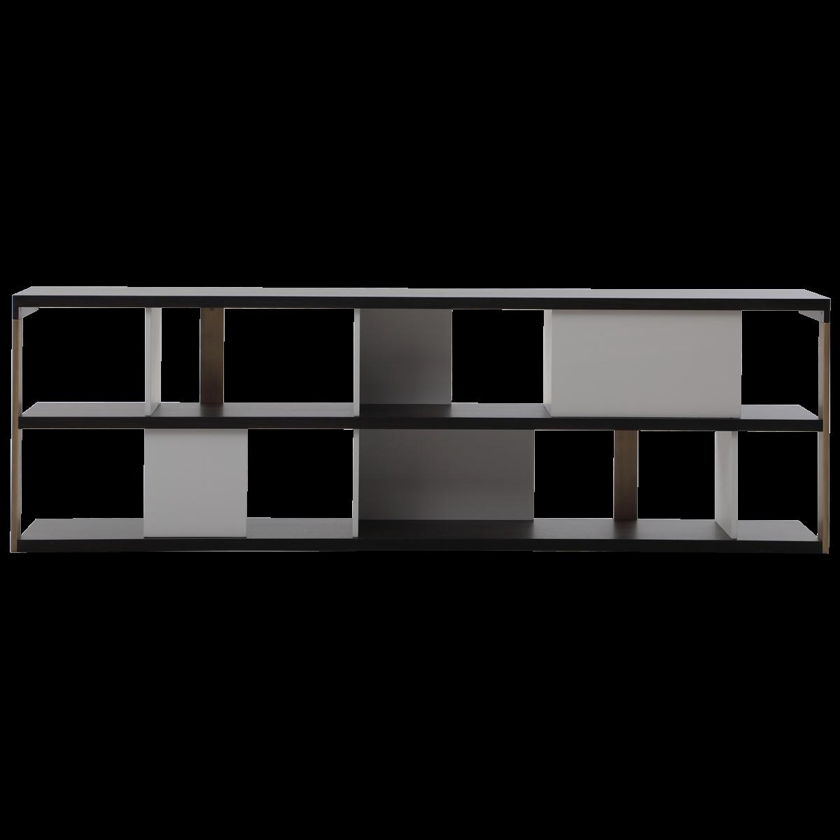 Mauro Lipparini Trevisina Low Bookcase Casa Minimalist Bookshelves Minimalist Decor Minimalist Bookcase