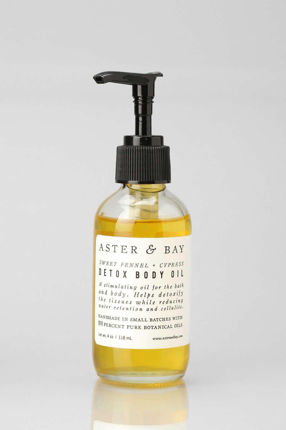 Aster bay detox body oil body oil body detox body