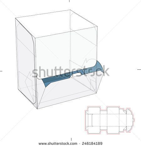 resealable dispenser box with die cut template package structure