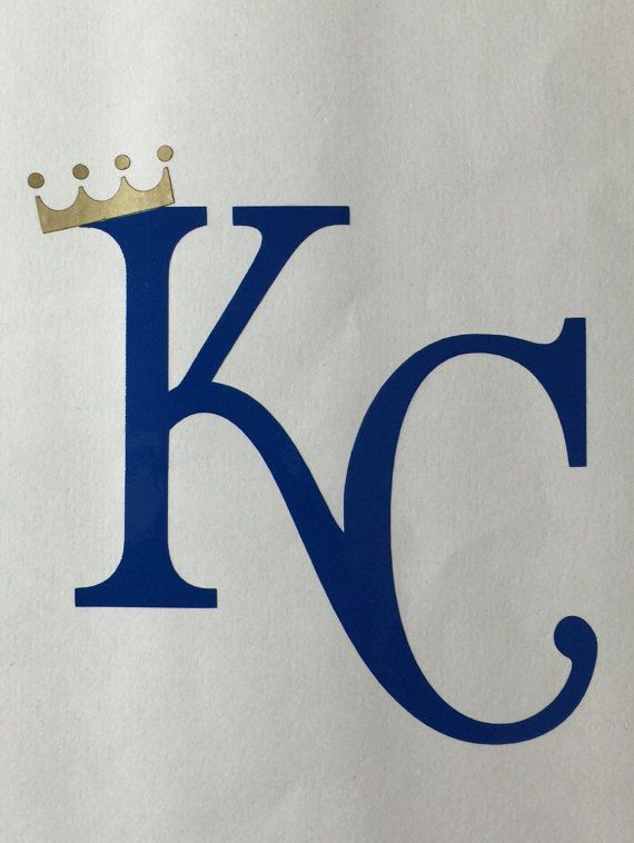 Kansas city royals vinyl decal kc with crown bumper sticker window sticker