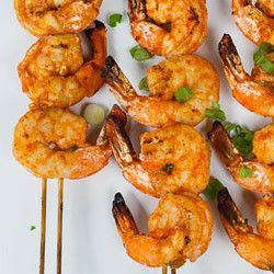 Thai-Curry Marinated Grilled Shrimp #summer #recipe