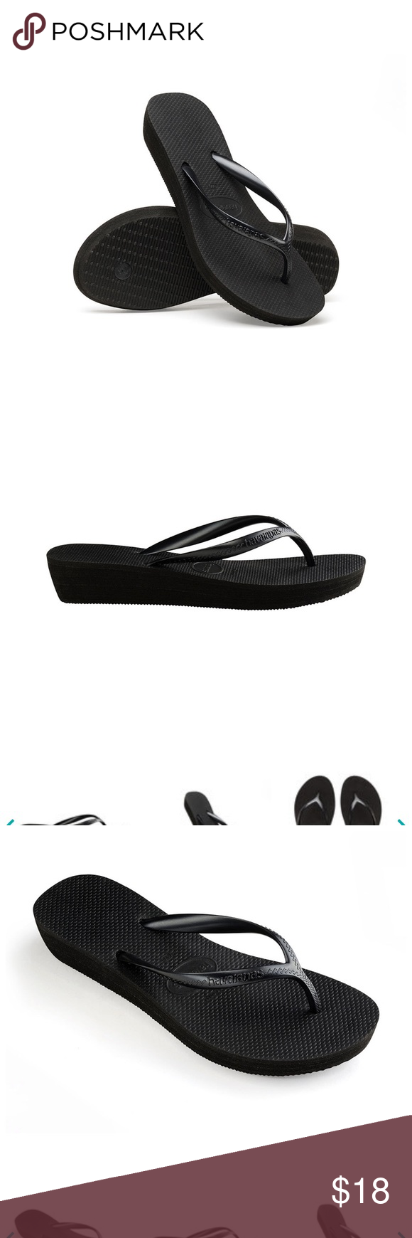 look out for really comfortable best quality Havaianas wedge flip flops Black Havaianas wedge flip flops Size ...
