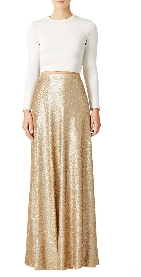 Slate & Willow Gold Cecilia Maxi Skirt