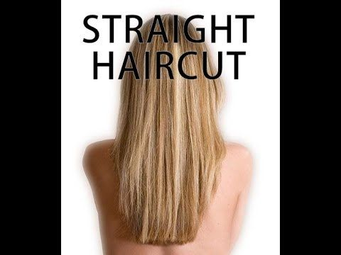 How To Cut Your Own Hair Straight Diy Home Hair Cuts Pinterest