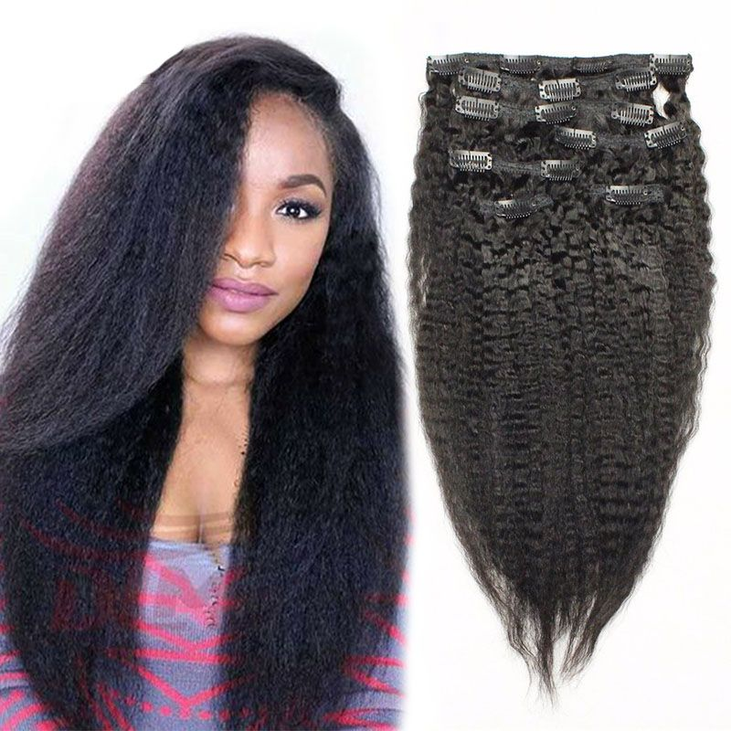 Clip in human hair extensions brazilian kinky straight clip in clip in human hair extensions brazilian kinky straight clip in hair extensions italian coarse yaki clip ins for black women pinterest products pmusecretfo Images