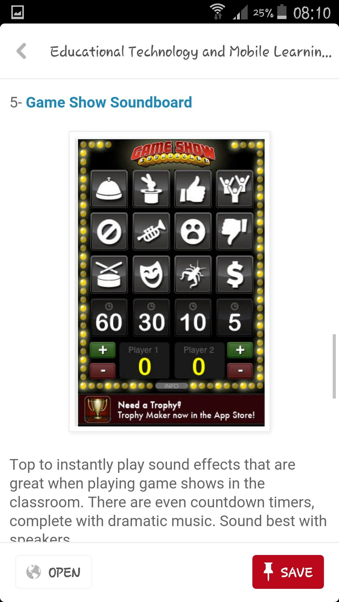 Game show soundboard  | lifelong learning | Typing games