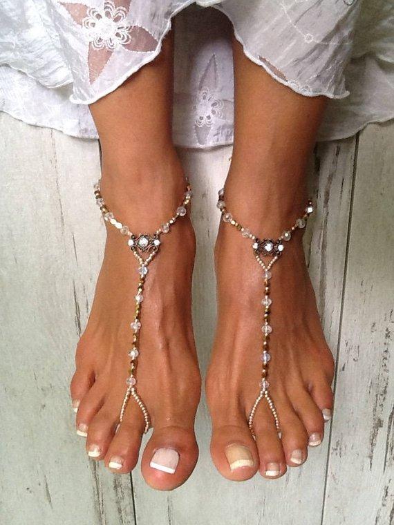 b7994281fb49b Barefoot Sandals, Golden Romance Barefoot Sandal, Foot Jewelry for a ...