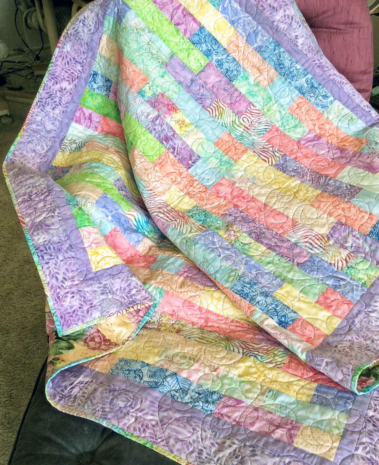 Attractive Pastel Batik Quilts Free Pattern Ideas In 2020