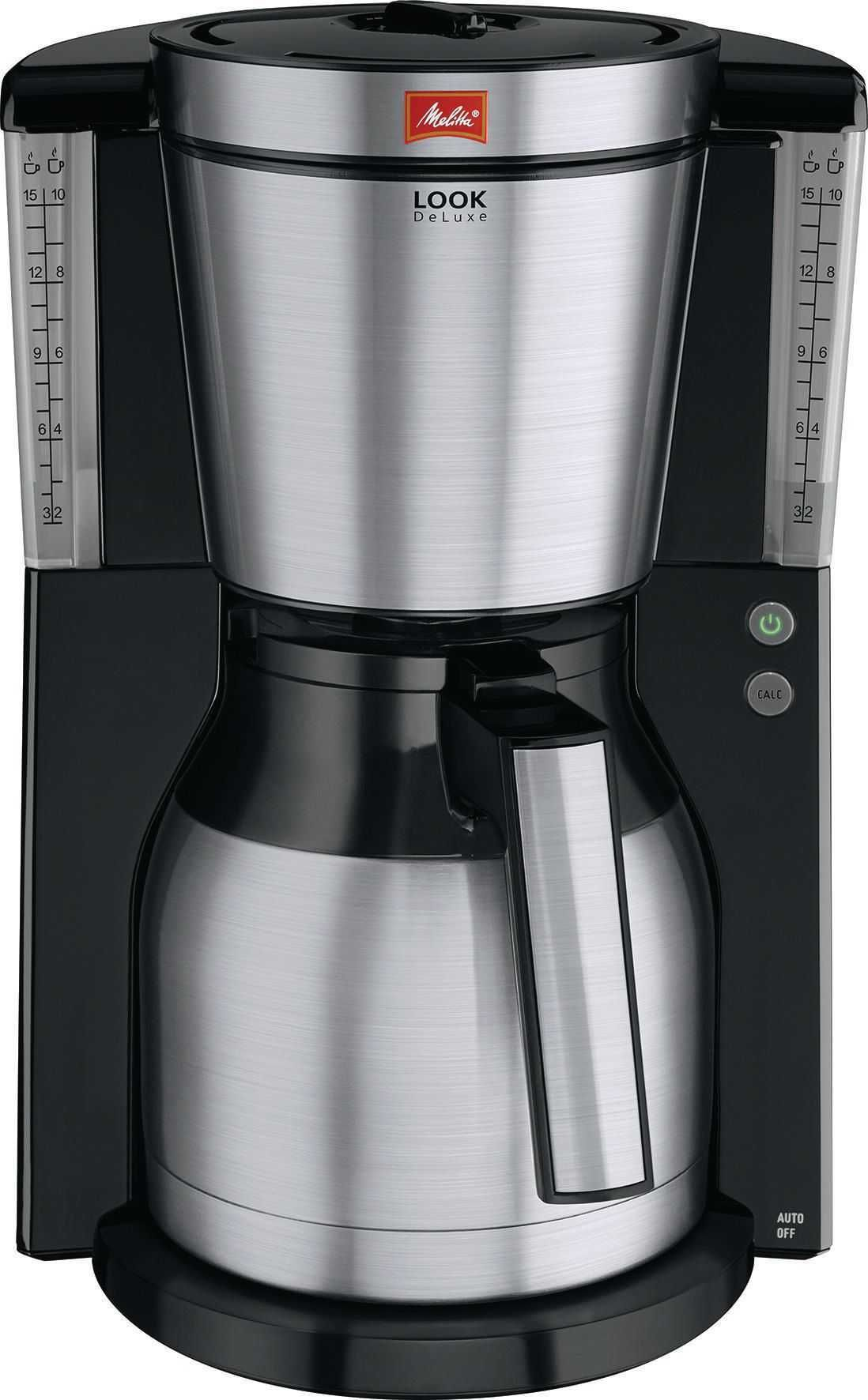 Melitta Filterkaffeemaschine Look DeLuxe Therm Silber