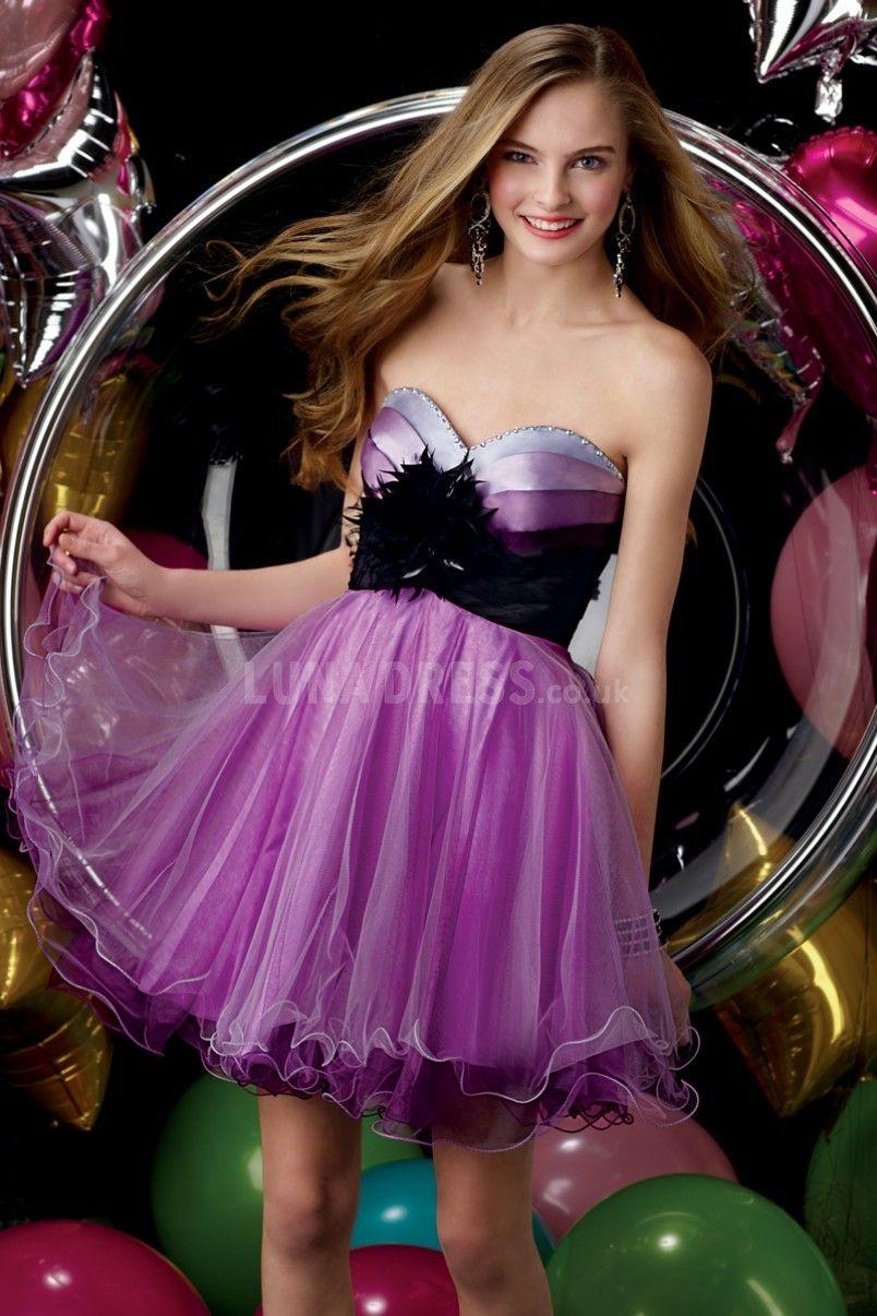 Baby doll prom dress short prom dress purple prom dress dream