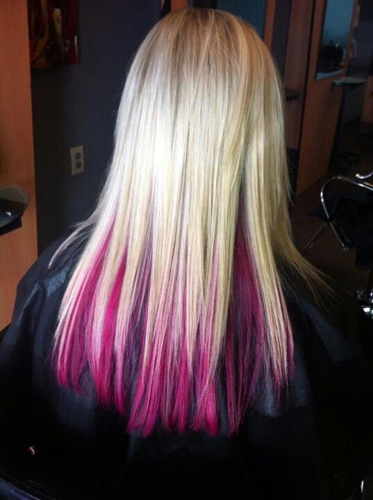 Pink Under Layer Hair Inspiration Color Hair Styles Dye My Hair