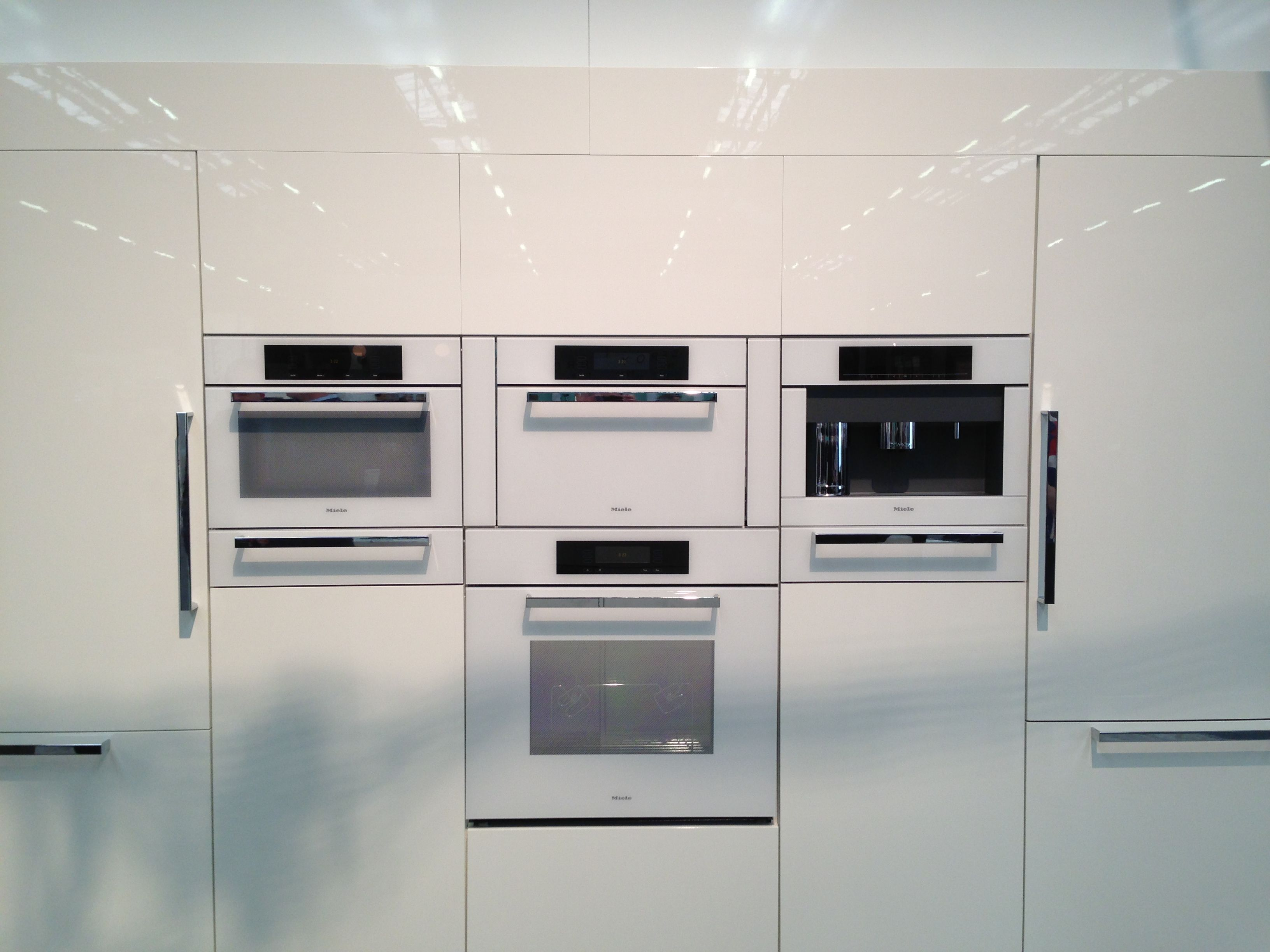 All new white appliances from Miele! We\'ll have some on display ...