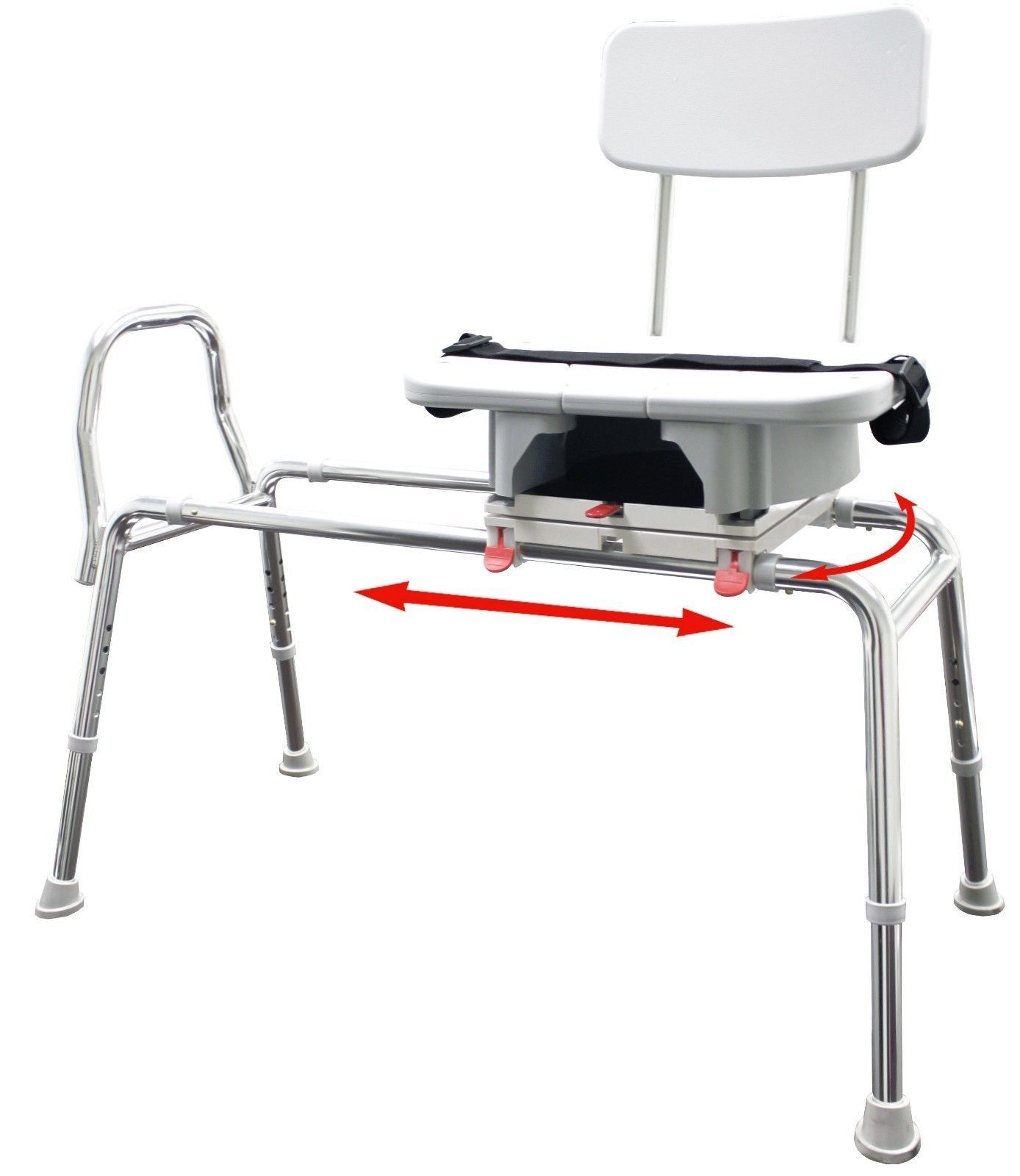 Eagle Health Snap-n-Save Sliding Shower Chair Bath transfer Bench w ...