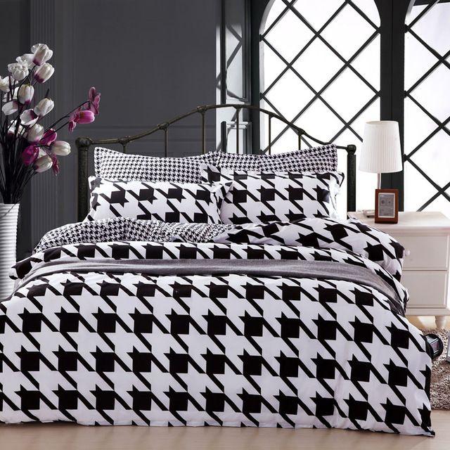 Classic parigi moda simple black matrimoniale queen size twin set biancheria da letto doona/copripiumino lamiera piana federa 3/4 pz kit