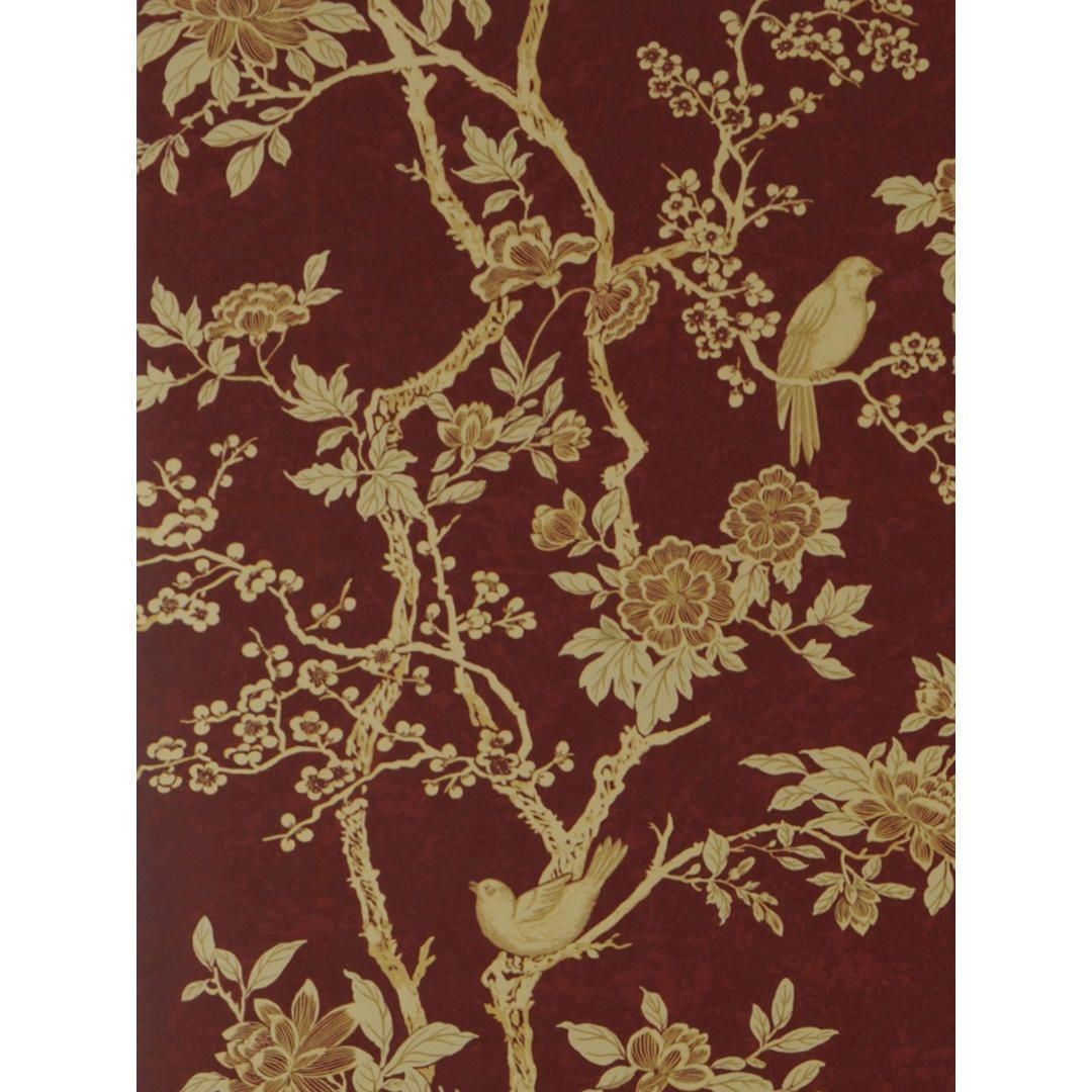 Ralph Lauren Marlowe Floral Wallpaper Garnet Prl048 03