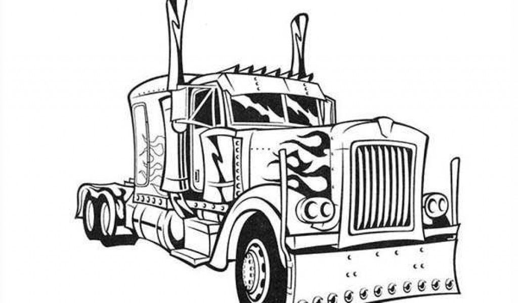 King Optimus Prime Transformers Coloring Pages Printable Kids