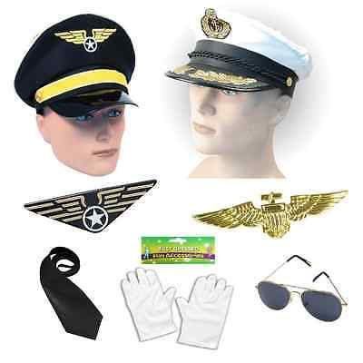 Airline fighter pilot #captain aviator #fancy dress costume #1980s 80s ,  View more on the LINK: http://www.zeppy.io/product/gb/2/201077281177/
