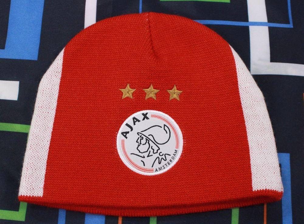 Football Crest Cap /& Scarf Gift Set Official AFC Ajax Amsterdam Eredivisie