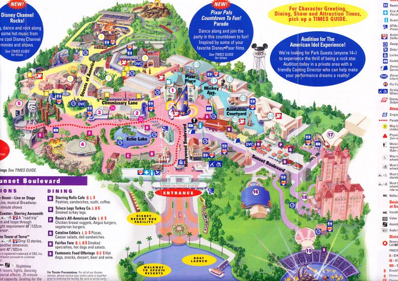 Hollywood Studios map | Disney\'s Hollywood Studios | Disney world ...