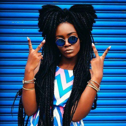 Peinados para negras 2017