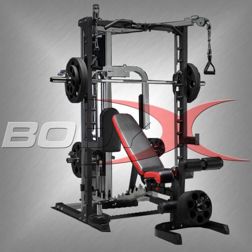 Smith Machine With Lat Amp Fly Amp Cable Crossover Attachment