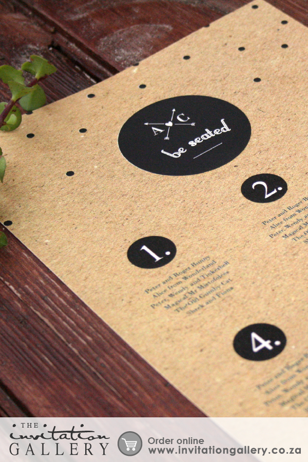 Seating Plan with rustic background – arty, earthy and retro ...