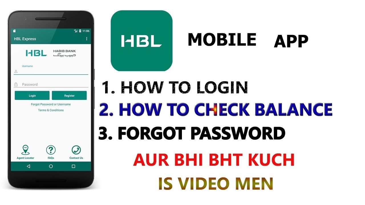 Hbl mobile app how to register on hbl mobile app and