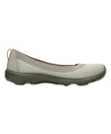 5f92b5e1a Another great find on  zulily! Light Gray Duet Busy Day Heather Flat   zulilyfinds