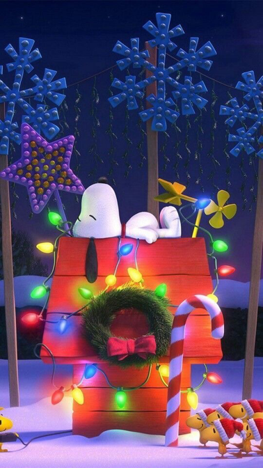 snoopy christmas wallpaper for iphone and android - Snoopy Christmas Wallpaper