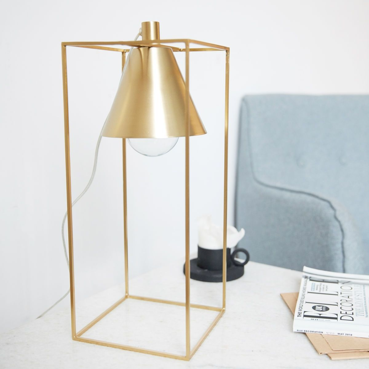 Kovová stolná lampa Kubix Brass Elegant table lamp