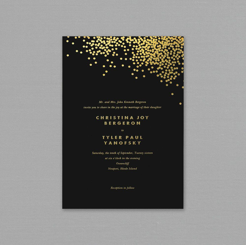 Black and Gold Invitations Inspirational Print at Home Invitations Templates  Luxury Desig… in 2020 | Black and gold invitations, Black wedding  invitations, Gold invitations