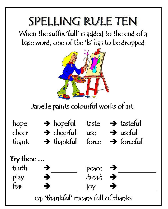 kiddslearningspace Spelling – Spelling Rules Worksheets