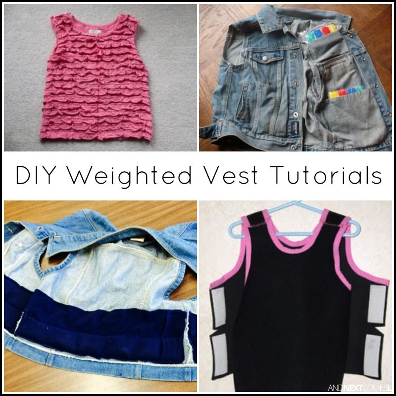 Vest Weighted Diy For A How Tutorials {10 Awesome Kids To Make qwIg6xxnaX