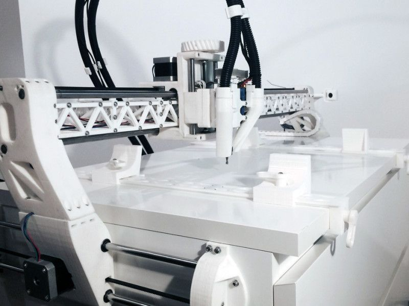 Fully Printed CNC On An IKEA Table 3d printing, Cnc, Diy cnc