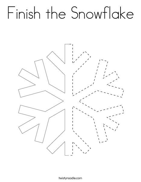 Finish the Snowflake Coloring Page - Twisty Noodle ...